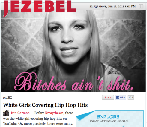 Screen shot White Girls Covering Hip Hop Hits article